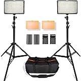 SAMTIAN 160LED 撮影 ライト プロ・初心者向けのビデオライト スタジオ照明キット 動画撮影ライト 78.74インチ/2M三脚 3200/5500Kビデオ写真ライトスタンドセット Canon Nikon Sony DSLRカメラ撮影 キャ