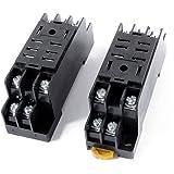 uxcell リレーソケットベース 継電器 2個入 PTF08A 12A 300VAC 8ピン DINレール