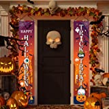 """KMUYSL Halloween Decorations - Hanging Halloween Decoration for Front Door Porch - 71""""x12"""" Extra Large Trick or Treat & Happy"""