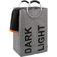 DOKEHOM 105L ダブルランドリーバスケット コインランドリーかご 洗濯ボックス 収納袋 収納バッグ 取っ手付き…
