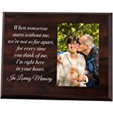 Elegant Signs Memorial Picture Frame - Keepsake Plaque That Holds a 4x6 Photo - Sympathy Gift to Tribute The Loss of a Loved