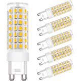 DiCUNO G9 LED Ceramic Bulb 4.5W 450LM Warm White 3000K 220-240V Energy Saving Lamp Chandelier Non-dimmable 6Pcs