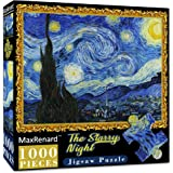 MaxRenard Puzzles for Adults 1000 Piece Starry Night Jigsaw Puzzle 1000 Van Gogh Puzzle Classic Oil Paintings Toy for Educati