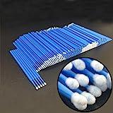 Disposable Micro Applicator Brushes Dental Brush for Oral/Eyelash Extensions Makeup 400pcs (Blue)