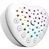 BEREST A13 White Noise Machine & Baby Sleep Soother with 15 Soothing Sounds & Projector Star Night Light, Cry Sensor, Recharg