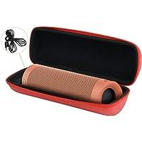 ソニー Sony SRS XB23 Bluetooth ポータブルスピーカー 専用保護収納ケース-Aenllosi (赤)
