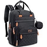 Diaper Bag Backpack, BabbleRoo Baby Nappy Changing Bags Multifunction Waterproof Travel Back Pack with Changing Pad & Strolle