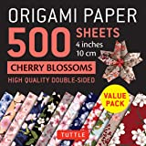 """Origami Paper 500 sheets Cherry Blossoms 4"""" (10 cm): Tuttle Origami Paper: High-Quality Double-Sided Origami Sheets Printed w"""