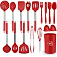 Silicone Cooking Utensil Set,Kitchen Utensils 17 Pcs Cooking Utensils Set,Non-stick Heat Resistant Silicone,Cookware with Sta