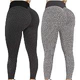 2 Pack TIK TOK Leggings Shorts Butt Lift, Women Yoga Pant for Butt Lifting, Tiktok Scrunch Leggings Workout Shorts LeggingG-X