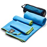 3 Size Towels at the Price of 1 - Super Pack - Fast Quick Dry · Super Absorbent · Ultra Compact · Lightweight · Antimicrobial