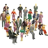 F Fityle 1:75 Scale Plastic Figurines Figure Model for Miniature Scenes, for Miniature Scenes Decor Accessory and Sand Table