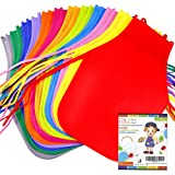 Caydo 24 Pieces 12 Colors Children's Artists Fabric Aprons for Kitchen, Classroom, Community Event, Crafts and Art Painting A