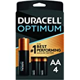 Duracell Optimum AA Batteries | 4 Count | Long Lasting Double A Battery | Alkaline AA Battery