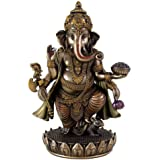 Collectible India Porcelain Standing Ganesh Idol (23.2 cm x 16.5 cm x 13.5 cm)