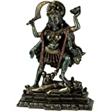 VERONESE Kali Standing on Shiva's Chest Statue Sculpture - Hindu Goddess of Time and Death Figurine
