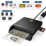 ICカードリーダーライタ 電子申告(e-Tax) ICチップのついた住民基本台帳カード 自宅で確定申告 USB接続 マイナンバーカード、住基カードに対応、CAC/SD/Micro SD (TF)/SIMスマートカードリーダーにも対応でき