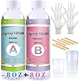 Epoxy Resin Coating Kit - 16 Ounce Kit Crystal Clear Resin for Art, Jewelry, Art Work,Wood finishes, See Through Encapsulatio