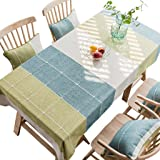 Nordic Modern Style tablecloths, Cotton and Linen tablecloths Living Room Coffee Table Table Cloth Cloth, Lattice Rectangular
