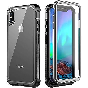 iPhone XS Max ケース 耐衝撃 360 全方向保護 米軍MIL規格取得 Qi充電対応 超軽量 クリア 防塵 傷·落下防止 高耐久ケース シンプル 6.8インチ (iPhone XS MAX) (iPhone XS MAX)