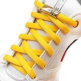 [AIJIABEI] が2足 靴紐 結ばない伸縮性靴ひもくつひも ゴム金属強い磁気ホックロック,カジュアルシューズ,革靴,スポーツシューズ,子供,大人,高齢者に