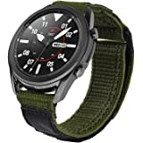 V-MORO Nylon Strap Compatible with Galaxy Watch 46mm Bands/Gear S3 Frontier Band Men 22mm Soft Breathable Woven Loop for Sams