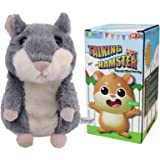 Yoego Cute Mimicry Pet Talking Hamster Repeats What You Say Plush Animal Toy Electronic Hamster Mouse for Boy and Girl Gift,3