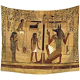 QCWN Egyptian Tapestry Wall Hanging Egyptian Ancient Religion Historical Tapestry Backdrop Cloth Egypt Egyptian Character for