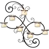 Stonebriar Modern Decorative Ivy Tea Light Candle Holder Wall Sconce, 7-tealight