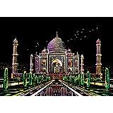 J-base スクラッチアート 削るだけで美しいアート ヒーリング 心やすらぐ アートセラピー (Taj Mahal)