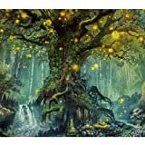 Lapoea DIY Oil Painting Paint by Number Kits Painting for Adults and Kids Arts Craft for Home Wall Decor Firefly Forest 40x50