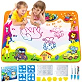 Aqua Doodle Pad, Baztoy Kids Toys Large Water Drawing Mat Toddlers Painting Board Magic Writing Mats with 6 Colours 2 Magic P