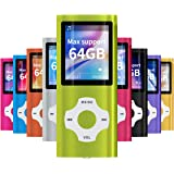 Mymahdi MP3/MP4 Portable Player,1.8 Inch LCD Screen,Max Support 64GB,Green