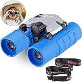 Binoculars for Kids, 8 x 21 Real Optics Mini Compact Kids Binoculars with Neck Strap - Waterproof Children's Binoculars for S