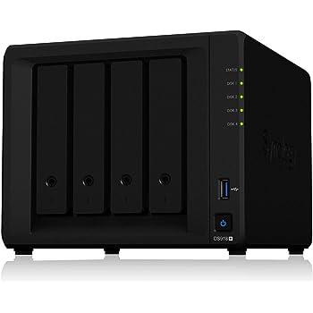 Synology DiskStation DS918+ [クアッドコアCeleron J3455 1.5GHz CPU搭載] 4ベイNASキット  CS7062