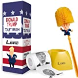 HomeFoundry Donald Trump Original Toilet Brush with Toilet Paper Make Toilet Great Again Funny Gag Gift