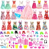 Barwa 125 Items: 13 Clothes Mini Dresses + 2 Party Dresses + 110 Accessories for 30 cm 11.5 Inch Dolls