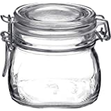 Bormioli Rocco Fido 17.5 Ounce Glass Storage Jars:, 17 Ounce, Clear