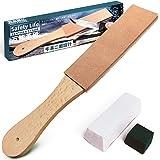 Safety Life(セーフティライフ) 革砥 レザーストロップ 白棒 青棒 コンパウンド 2種セット 使い分け可能な 両面床面設計