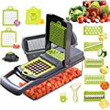 Alrens Vegetable Chopper Mandoline Slicer Cutter Chopper and Grater 8 in 1 Vegetable Slicer Cheese Grater Potato Onion Choppe