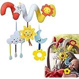 HELLOSUN ベビーカー用おもちゃ かわいい 赤ちゃん 子供 ベッド 玩具 渦巻き ぶら下げ ベビーおもちゃ 可愛い 柔らかい おもちゃ