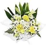 花由 お供え生花アレンジメント ユリ入りSサイズ 白+イエロー系 マケプレお急ぎ便