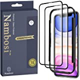 Nambosi Screen Protector for iPhone 11/Xr Tempered Glass Film/Full Coverage/High Definition/Anti Fingerprint /9H Hardness/No