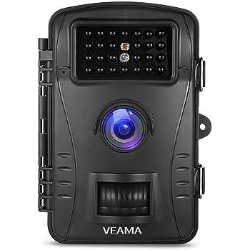 トレイルカメラ WTwisdom Together 防犯カメラ 動体検知カメラ 防水カメラ 電池式 SDカード録画 ワイヤレスカメラ 赤外線LED ライト搭載 60°広角レンズ 720p 暗視カメラ 人体感知