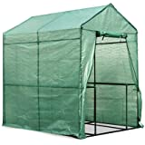 Greenfingers 4 Shelves Walk in Greenhouse Tunnel Plant Garden Storage Grow Shed