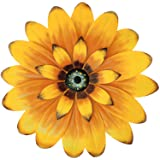 """Aboxoo 13"""" Yellow Daisy Metal Layered Floral Home Wall Art Sculptures for Bathroom Livingroom Bedroom or Porch Patio Colorful"""