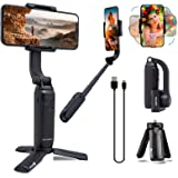 Gimbal Stabilizer for Smartphone, FeiyuTech Vimble One Anti-Shake One Axis Foldable Gimbal Handheld Selfie Stick Tripod for i