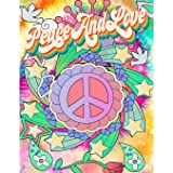 Peace and Love: 1960's Inspired Adult Coloring Book Hippie Coloring Book