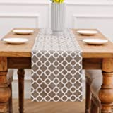 NATUS WEAVER 2 Side Cotton, Classic Table Runner for Dinner Parties, Events, Decor 12 x 90 - Geometric Lattice Chain Printed,