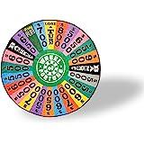 Wheel of Fortune Spin Wheel Soft Fleece Round Throw Blanket   Wheel of Fortune Gift Game Wheel Themed Warm Fleece Blankets  